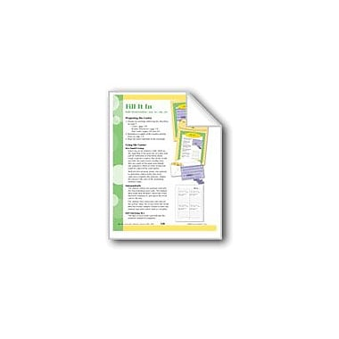 Evan-Moor Educational Publishers Fill It In (Word Families -Ead, -Ew,- Ain, -Air) Workbook, Grade 2 - Grade 3 [eBook]