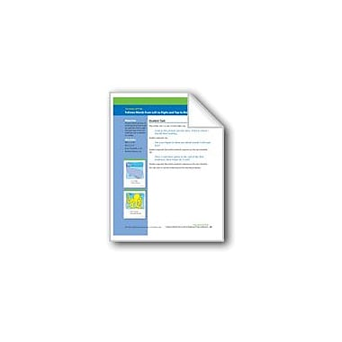 Evan-Moor Educational Publishers Follows Words From Left/Right and Top/Bottom (Assessment) Workbook, Preschool [eBook]