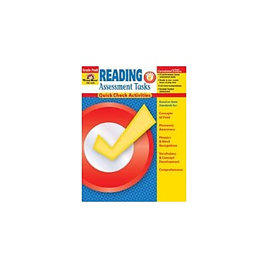 Evan-Moor Educational Publishers Reading Assessment Tasks: Quick Check Activities, Pk Workbook, Preschool [Enhanced eBook]