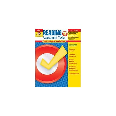 Evan-Moor Educational Publishers Reading Assessment Tasks: Quick Check Activities, Grade K Workbook [Enhanced eBook]