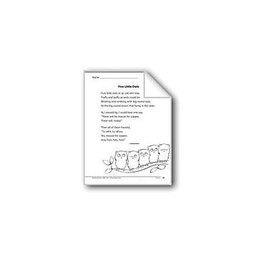 Evan-Moor Educational Publishers Five Little Owls (A Poem) Language Arts Workbook, Grade 1 [eBook]