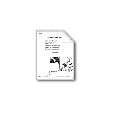 Evan-Moor Educational Publishers My Country, 'Tis of Thee (A Song) Language Arts Workbook, Grade 1 [eBook]