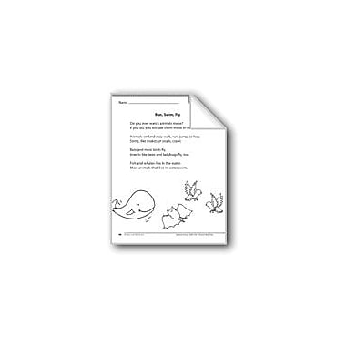 Evan-Moor Educational Publishers Run, Swim, Fly (A Nonfiction Article) Language Arts Workbook, Grade 1 [eBook]
