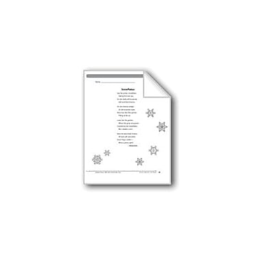Evan-Moor Educational Publishers Snowflakes (A Poem) Language Arts Workbook, Grade 4 [eBook]