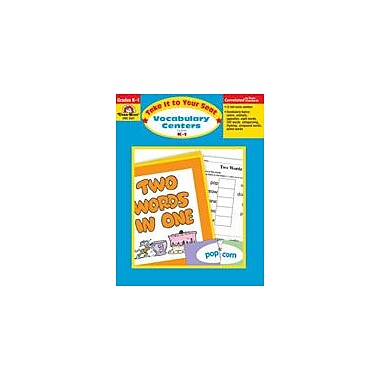 Evan-Moor Educational Publishers Take It to Your Seat Vocabulary Centers, Grades K,1 Workbook [Enhanced eBook]