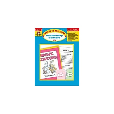 Evan-Moor Educational Publishers Take It to Your Seat Vocabulary Centers Workbook, Grade 5 - Grade 6 [Enhanced eBook]