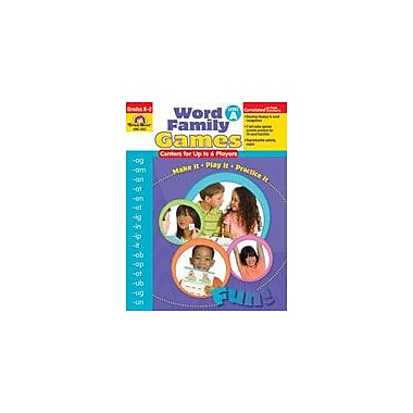 Evan-Moor Educational Publishers Word Family Games: Centers for Up to 6 Players Workbook [Enhanced eBook]