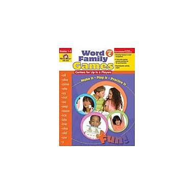 Evan-Moor Educational Publishers Word Family Games: Centers for Up to 6 Players Workbook, Grade 1 - Grade 3 [Enhanced eBook]