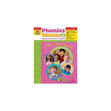 Evan-Moor Educational Publishers Phonics Games: Level A Language Arts Workbook, Preschool - Kindergarten [Enhanced eBook]