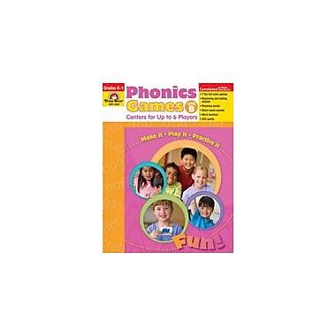 Evan-Moor Educational Publishers Phonics Games: Level B Language Arts Workbook, Kindergarten - Grade 1 [Enhanced eBook]