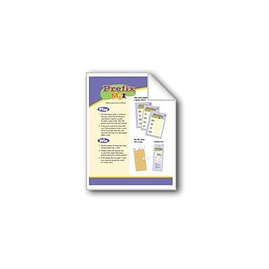 Evan-Moor Educational Publishers Prefix Mix (Prefixes & Base Words: Phonics Games) Workbook, Grade 2 - Grade 3 [eBook]