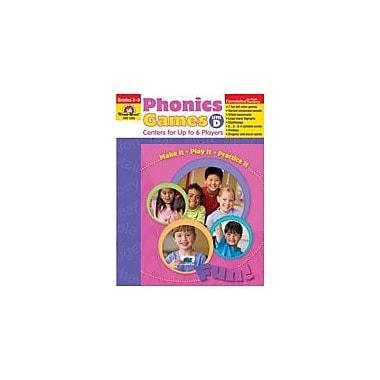 Evan-Moor Educational Publishers Phonics Games: Level D Language Arts Workbook, Grade 2 - Grade 3 [Enhanced eBook]