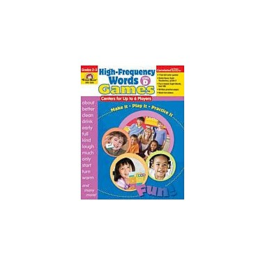 Evan-Moor Educational Publishers High-Frequency Words: Center Games For Up to 6 Players, Level D Workbook [Enhanced eBook]
