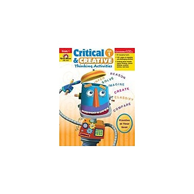 Evan-Moor Educational Publishers Critical and Creative Thinking Activities Problem Solving Workbook, Grade 1 [Enhanced eBook]