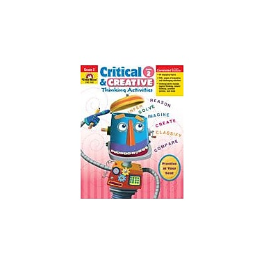 Evan-Moor Educational Publishers Critical and Creative Thinking Activities Problem Solving Workbook, Grade 2 [Enhanced eBook]