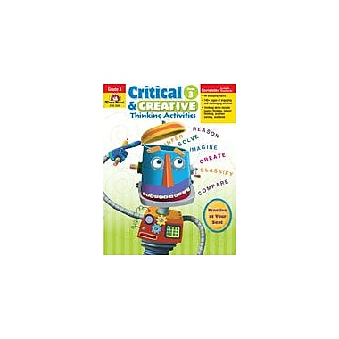 Evan-Moor Educational Publishers Critical and Creative Thinking Activities Problem Solving Workbook, Grade 3 [Enhanced eBook]