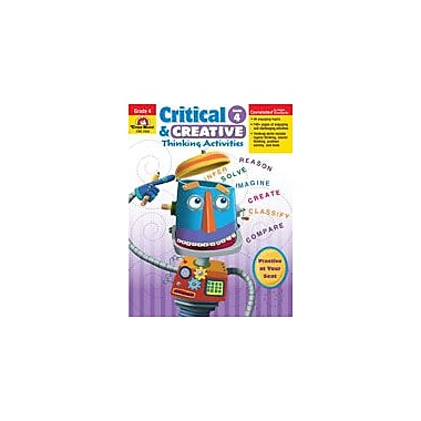 Evan-Moor Educational Publishers Critical and Creative Thinking Activities Problem Solving Workbook, Grade 4 [Enhanced eBook]
