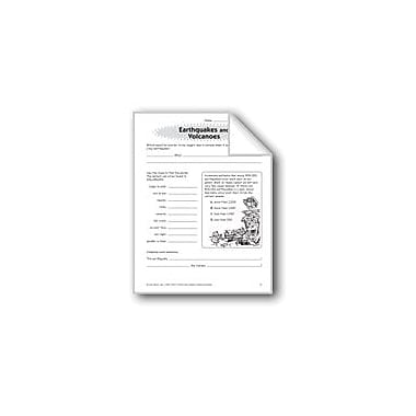 Evan-Moor Educational Publishers Earthquakes and Volcanoes Problem Solving Workbook, Grade 5 [eBook]