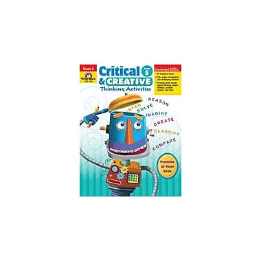 Evan-Moor Educational Publishers Critical and Creative Thinking Activities Problem Solving Workbook, Grade 5 [Enhanced eBook]