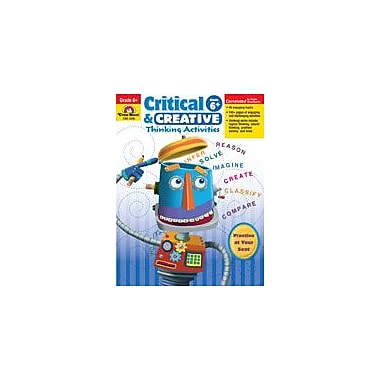 Evan-Moor Educational Publishers Critical and Creative Thinking Activities Workbook, Grade 6 - Grade 8 [Enhanced eBook]