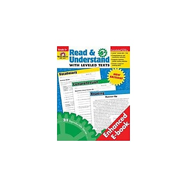 Evan-Moor Educational Publishers Read and Understand With Leveled Texts Workbook, Grade 6 - Grade 8 [Enhanced eBook]