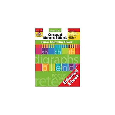 Evan-Moor Educational Publishers Phonics Intervention Centers: Consonant Digraphs and Blends, Intermediate [Enhanced eBook]