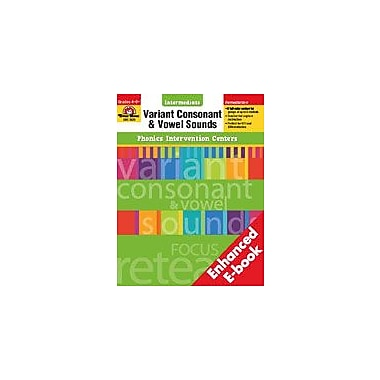 Evan-Moor Educational Publishers Phonics Intervention Centers: Variant Consonant and Vowel Sounds, Intermediate [Enhanced eBook]