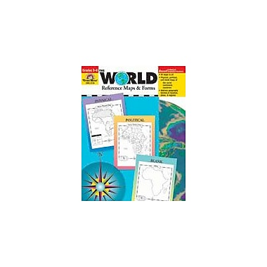 Evan-Moor Educational Publishers The World: Reference Maps and Forms-6 Geography Workbook, Grade 1 - Grade 6 [Enhanced eBook]