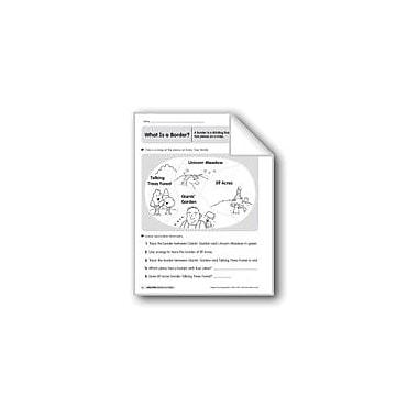 Evan-Moor Educational Publishers Map Skills: Borders On A Map Geography Workbook, Kindergarten - Grade 2 [eBook]