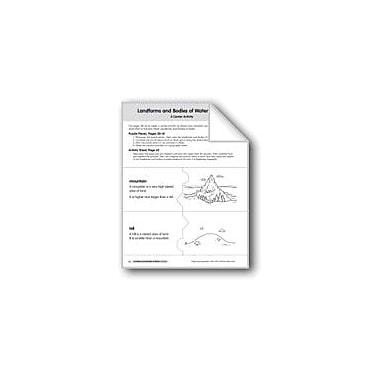 Evan-Moor Educational Publishers Landforms and Bodies of Water Puzzles Geography Workbook, Kindergarten - Grade 2 [eBook]