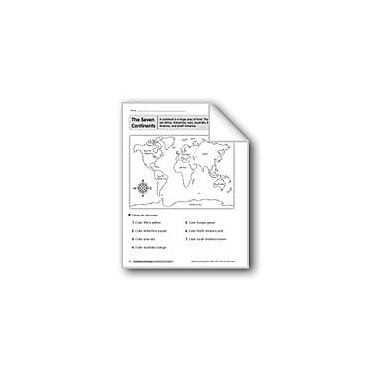 Evan-Moor Educational Publishers Continents and Oceans Geography Workbook, Kindergarten - Grade 2 [eBook]