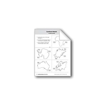 Evan-Moor Educational Publishers Continents & Oceans: Additional Material Geography Workbook, Kindergarten - Grade 2 [eBook]