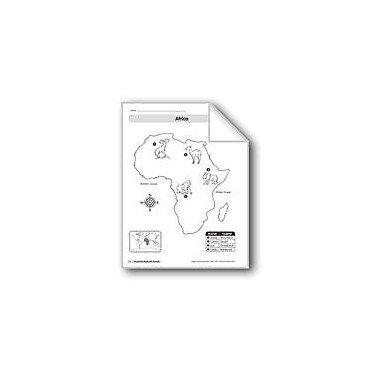 Evan-Moor Educational Publishers Animal Life Maps: Africa Geography Workbook, Kindergarten - Grade 2 [eBook]