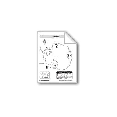 Evan-Moor Educational Publishers Animal Life Maps: Antarctica Geography Workbook, Kindergarten - Grade 2 [eBook]