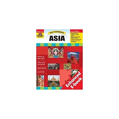 Evan-Moor Educational Publishers The 7 Continents: Asia Social Studies Workbook, Grade 4 - Grade 8 [Enhanced eBook]