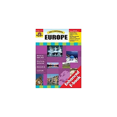 Evan-Moor Educational Publishers The 7 Continents: Europe Social Studies Workbook, Grade 4 - Grade 8 [Enhanced eBook]