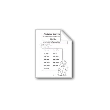 Evan-Moor Educational Publishers Words That Mean the Same Computers Workbook, Grade 1 - Grade 3 [eBook]