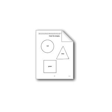 Evan-Moor Educational Publishers Shape Homework Computers Workbook, Preschool - Kindergarten [eBook]