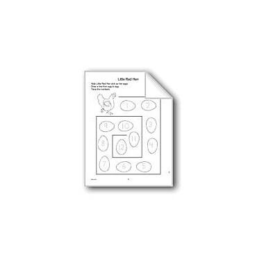 Evan-Moor Educational Publishers Little Red Hen Math Workbook, Kindergarten - Grade 1 [eBook]
