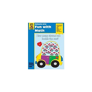 Evan-Moor Educational Publishers Math Activity Books, Fun With Math Math Workbook, Kindergarten - Grade 1 [Enhanced eBook]