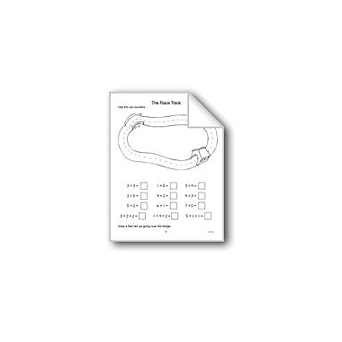 Evan-Moor Educational Publishers The Race Track Math Workbook, Kindergarten - Grade 2 [eBook]
