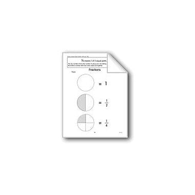 Evan-Moor Educational Publishers Beginning Fractions: 1/2 and 1/4 Math Workbook, Grade 1 - Grade 3 [eBook]