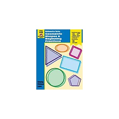 Evan-Moor Educational Publishers Geometric Shapes and Beginning Fractions Math Workbook, Grade 1 - Grade 2 [Enhanced eBook]