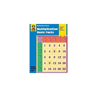 Evan-Moor Educational Publishers Math Activity Books, Multiplication, Basic Facts Workbook, Grade 3 - Grade 5 [Enhanced eBook]