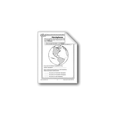 Evan-Moor Educational Publishers Hemispheres, Longitude, and Latitude Social Studies Workbook, Grade 1 - Grade 3 [eBook]