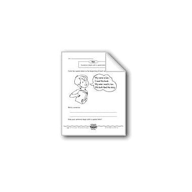 Evan-Moor Educational Publishers Flopsy Wiggles (Sentences Begin With Capital Letters) Computers Workbook, Grade 1 [eBook]