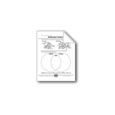 Evan-Moor Educational Publishers Underwater Creatures (Venn Diagrams) Computers Workbook, Grade 2 - Grade 4 [eBook]