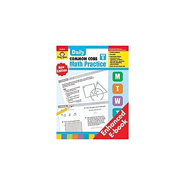 Evan-Moor Educational Publishers Daily Common Core Math Practice Math Workbook, Grade 6 [eBook]