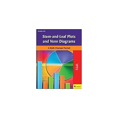 Milliken Publishing Stem-And-Leaf Plots and Venn Diagrams Math Workbook, Grade 6 - Grade 8 [eBook]