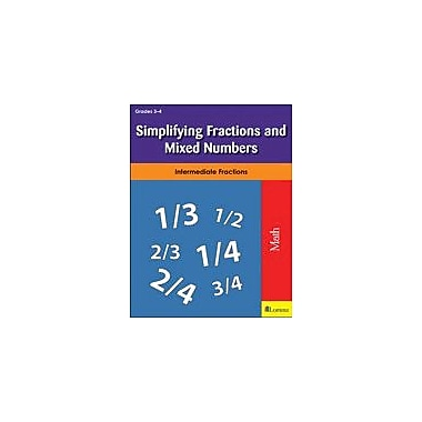 Milliken Publishing Simplifying Fractions and Mixed Numbers Math Workbook, Grade 3 - Grade 4 [eBook]